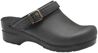 Dansko Open-Back Leather Clogs - Ingrid