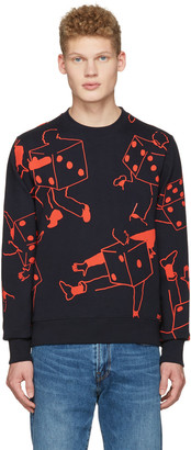 PS by Paul Smith Navy Dice Pullover $150 thestylecure.com