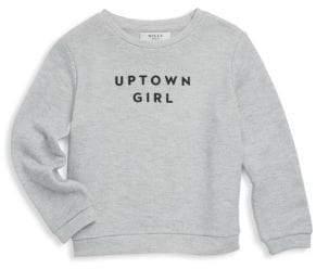Milly Minis Little Girl's& Girl's Uptown Girl Sweatshirt