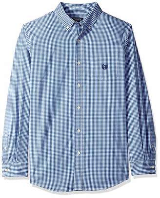 Chaps Men's Plaid ec Stretch-Long Sleeve-Sport Shirt