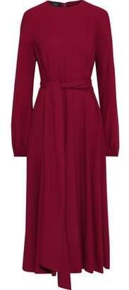 Giambattista Valli Tie-front Crepe Midi Dress