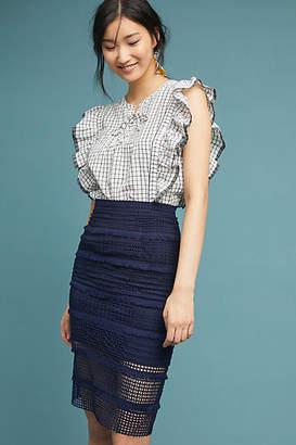 Hutch Fringed Crochet Pencil Skirt
