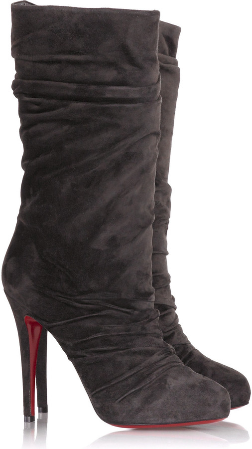 Christian Louboutin Piros 120 boots