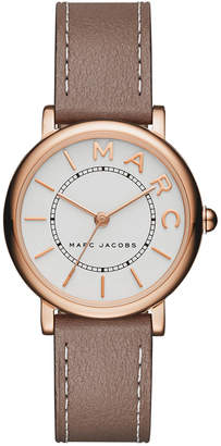 Marc Jacobs Women's Roxy Cement Leather Strap Watch 28mm