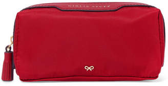 Anya Hindmarch Girlie Stuff Leather-trimmed Shell Cosmetics Case - Red
