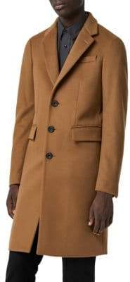 Burberry Halesowen Camel Single-Breasted Wool& Cashmere Overcoat