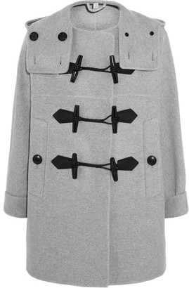 Burberry - Wool And Cashmere-blend Duffle Coat - Light gray $2,195 thestylecure.com