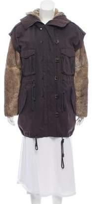3.1 Phillip Lim Fur-Trimmed Hooded Parka
