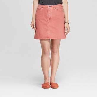 Universal Thread Women's Denim Mini Skirt Rose