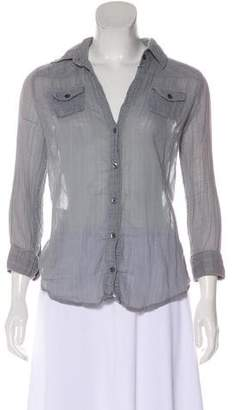 Elizabeth and James Long-Sleeve Button-Up Blouse