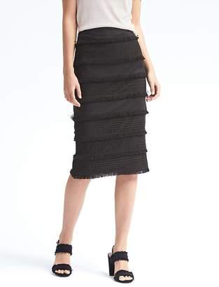 Lace Midi Pencil Skirt $118 thestylecure.com