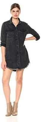 Hudson Jeans Women's Bijou Button Front Denim Shirt Dress
