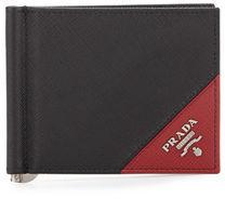 pradaPrada Saffiano Leather Contrast-Corner Money Clip