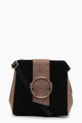 boohoo Colour Block Ring Detail Cross Body Bag