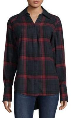 Paige Clemence Plaid Hi-Lo Hem Top