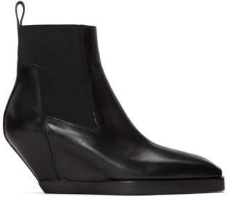 Rick Owens Black Elastic Sliver Boots