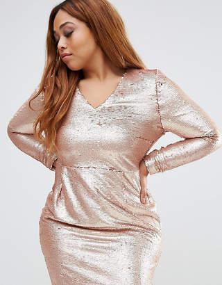 Missguided Plus Sequin Mini Dress