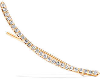Beaufille - Easy Rider 10-karat Gold Diamond Earring - one size