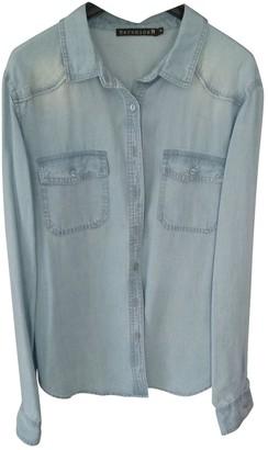 Berenice Blue Denim - Jeans Top for Women