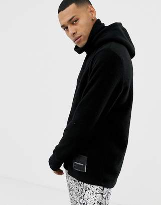 Cheap Monday High Neck Scope Hoodie In Black