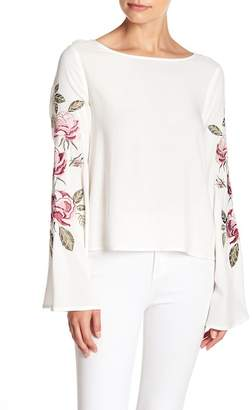 Cupcakes And Cashmere Aldona Embroidered Top