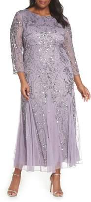8e5cbf178c Pisarro Nights Embellished Three Quarter Sleeve Gown