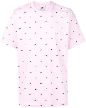 adidas allover Trefoil print T-shirt