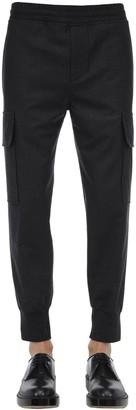 Neil Barrett Flannel Stretch Wool Cargo Pants