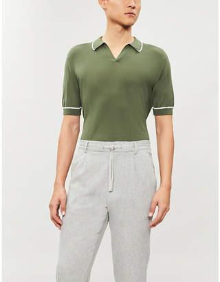 John Smedley Saxon cotton polo shirt