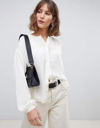 Vero Moda Button Down Long Sleeve Blouse