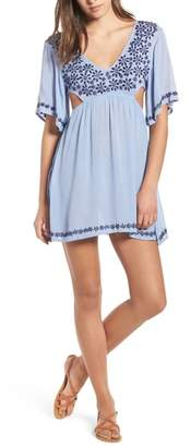 Raga Marrakesh Embroidered Cutout Minidress