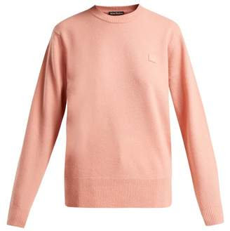 Acne Studios Face Wool Sweater - Womens - Light Pink
