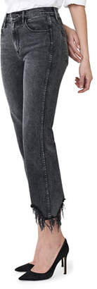 3x1 Austin Crop High-Rise Jeans with Shredded Hem