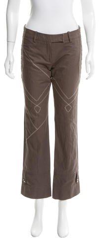 Christian Dior Mesh Panel Straight-Leg Pants