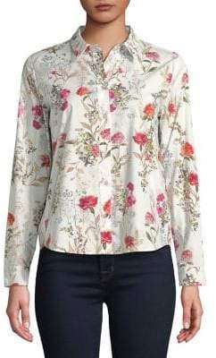 Marella Floral-Print Button-Down Shirt