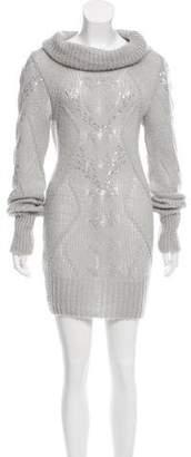 Ermanno Scervino Sequined Sweater Dress