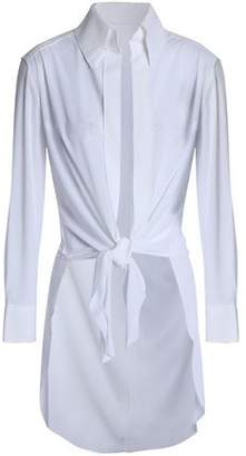 Norma Kamali Tie-Front Stretch-Jersey Top