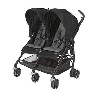 Maxi-Cosi Dana For2, Compact Double Stroller, Compatible with Car Seats, 0 Months-3.5 Years, Birth-15 kg, Nomad Black