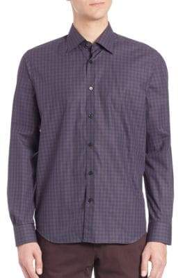 Saks Fifth Avenue COLLECTION Regular Fit Plaid Shirt