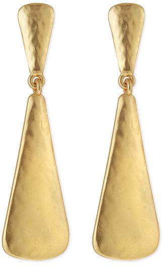 Kenneth Jay Lane Triangular Drop Earrings