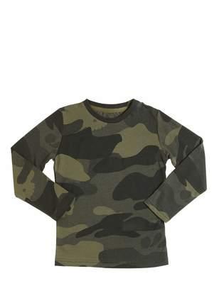 Hydrogen Kid Camo Print Cotton Jersey T-Shirt