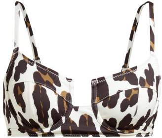 Solid & Striped The Harley Leopard Print Underwire Bikini Top - Womens - Leopard