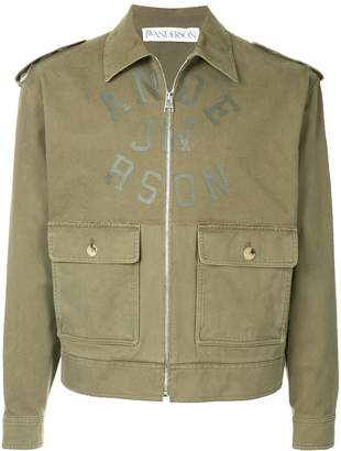 J.W.Anderson printed Harrington jacket