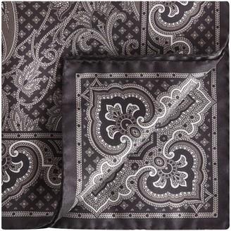 Reiss Henry - Silk Paisley Pocket Square in Black