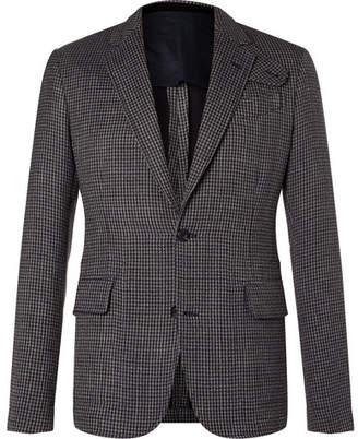 Alexander McQueen Slim-Fit Houndstooth Cotton-Blend Tweed Blazer