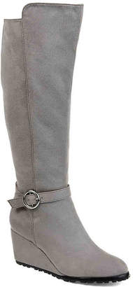 Journee Collection Veronica Extra Wide Calf Wedge Boot - Women's