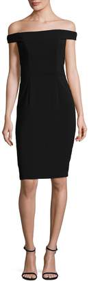 Carmen Marc Valvo Women's Crepe Off Shoulder Dress