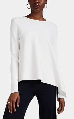 Derek Lam Women's Rib-Knit Asymmetric Top - White
