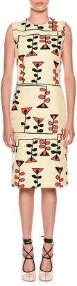 Marni Sleeveless Vine-Print Sheath Dress
