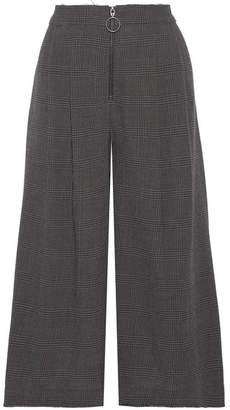 Sea Prince Of Wales Checked Wool Culottes - Dark gray